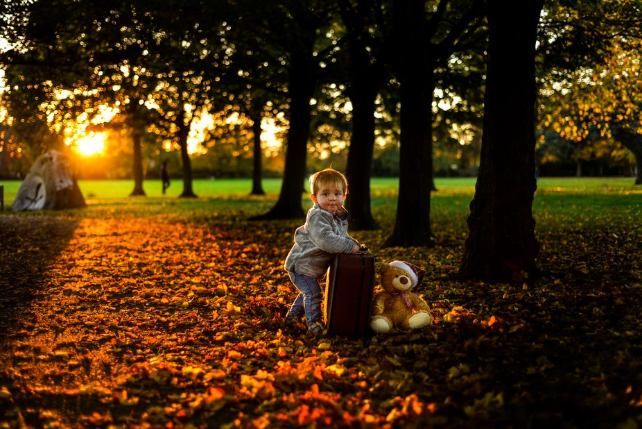 Evening is coming ... Teddy bear- is time to go home....