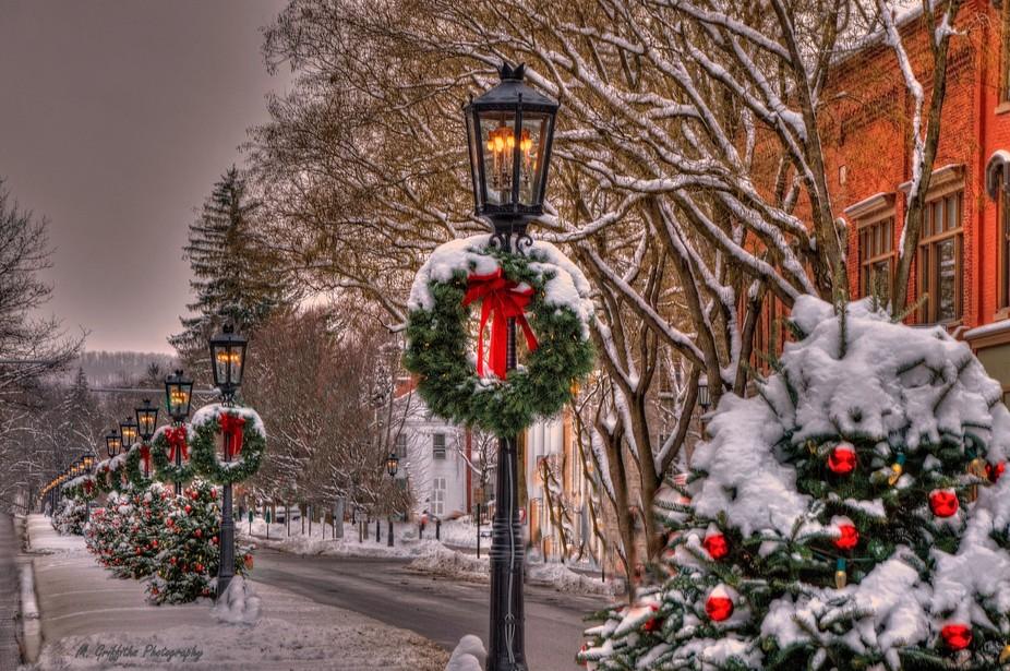 Christmas in historic downtown Wellsboro, Pennsylvania