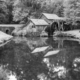The Mabry Mill on the BRP.  This is probably the most photographed site on the Blue Ridge Parkway.  This is my interpretation in B&W.