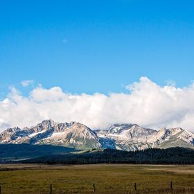 A shot of the Sawtooth Mountain range on my visit to Stanley, Idaho in September 2015.