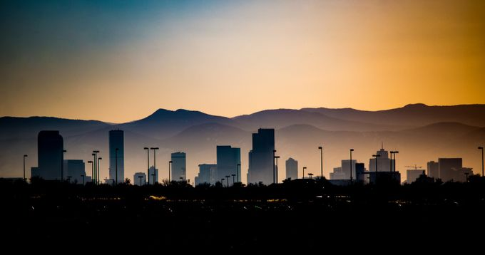 Hazy Sunset Denver by EarthHues2 - Modern Cities Photo Contest