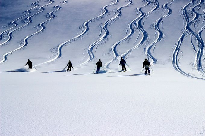 Skiing Fresh tracks in Val d'Isère. by dougiesandy - Anything People Photo Contest