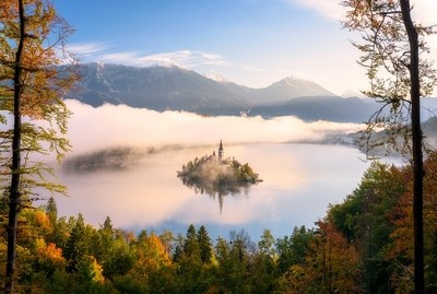 Dreamy View in Bled