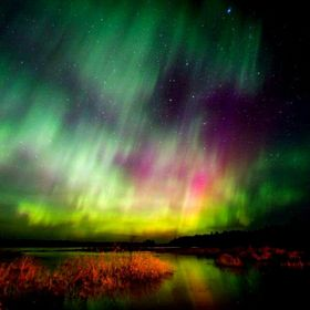 Beautiful aurora show in canada this summer!