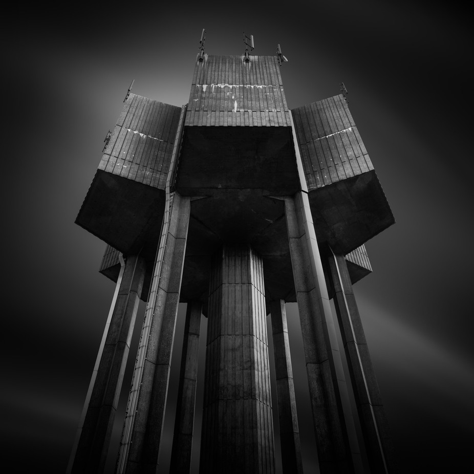 Horstead Watertower by mushroomgodmat - Black And White Architecture Photo Contest