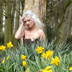 This shot was taken as a woodland fairy theme, the daffodils just added colour and a time frame for the shot.