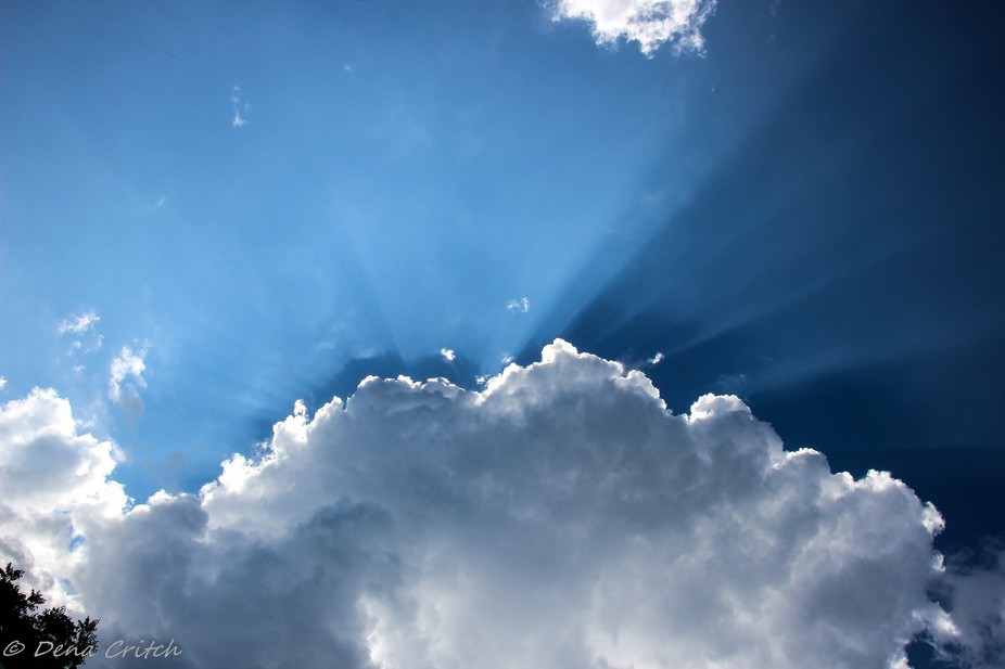 I am very fond of clouds. Here is a recent shot from this summer.