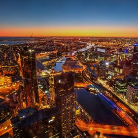 City of Melbourne Victoria Australia photographed from Eureka Skydeck