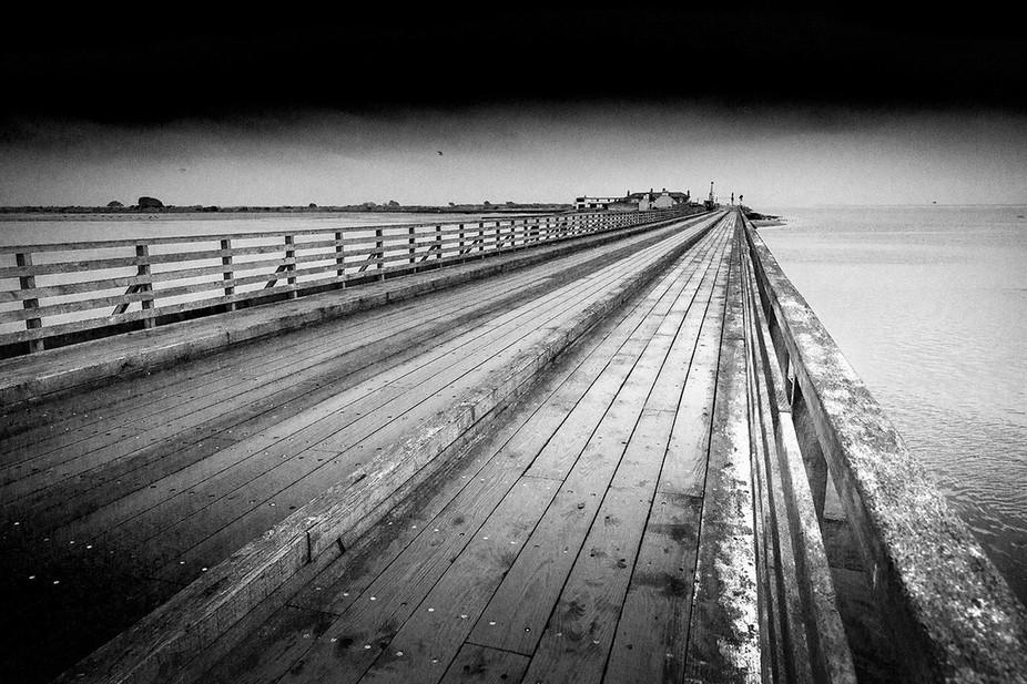 Wooden bridge over to Bull Island, Clontarf, Dublin.