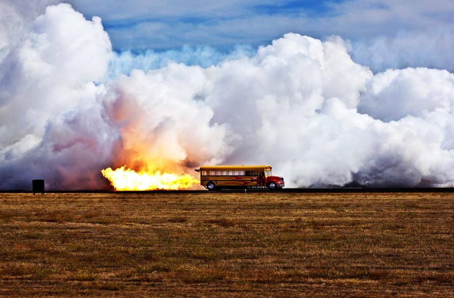 A Jet bus at the California Capitol Airshow in  Rancho Cordova California.