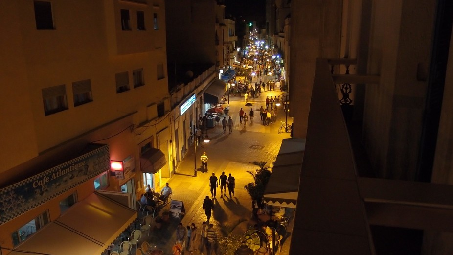 The view from my hotel balcony - Morocco