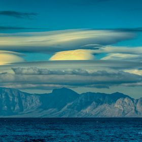 False Bay with reticular clouds