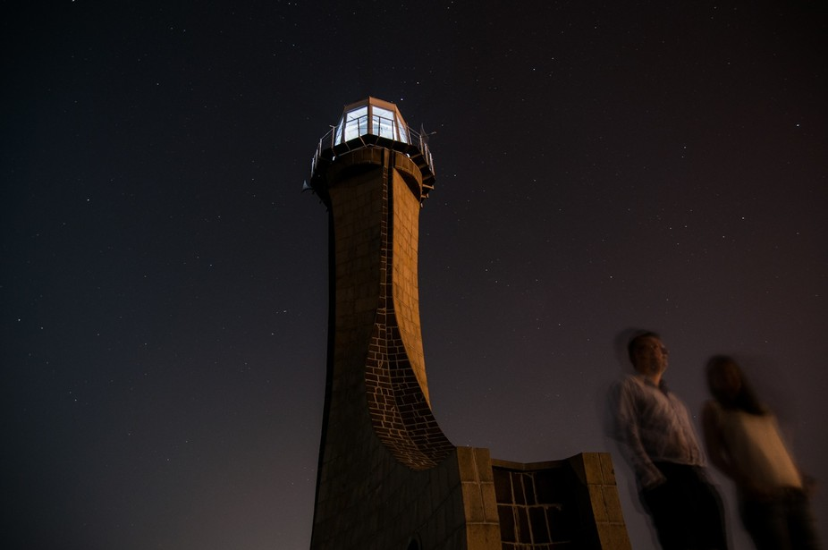 A couple decided to stroll through my long exposure of a lighthouse. I decided to call them &...