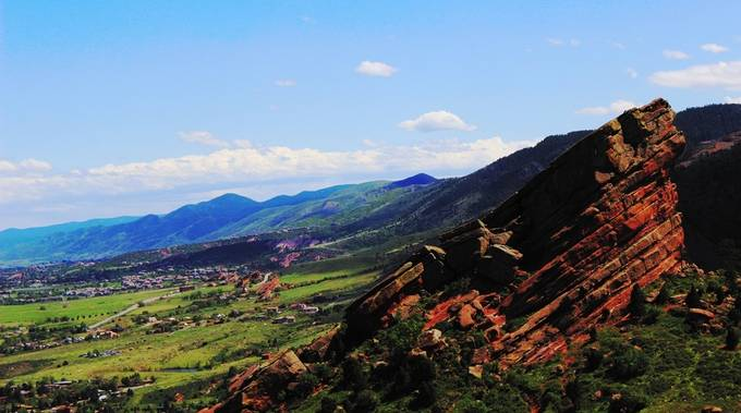 A nice picture of Red Rocks Amphitheater.