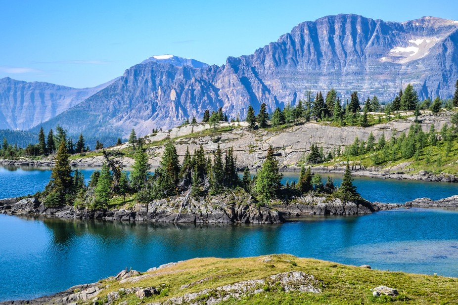 Hike up Sunshine Ski hill in Alberta, Canada