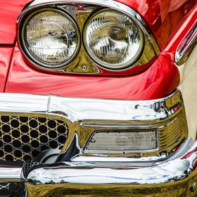 I took this image of this 1950s American Ford Fairlane at a classic car show