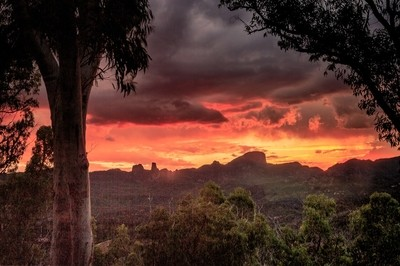 Sunset from White gum Lookout Coonabarabran