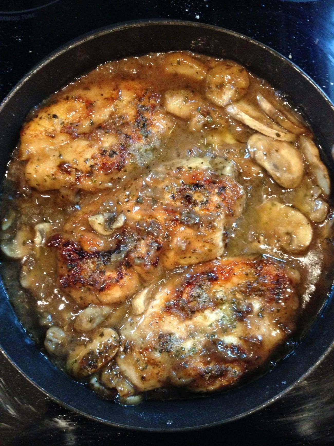 Chicken Marsala for Friday night dinner.
