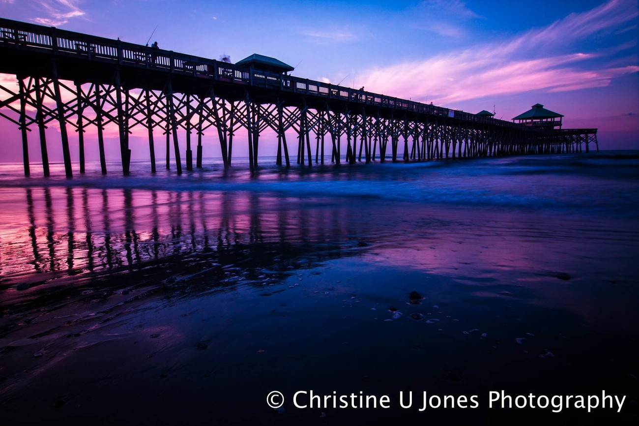 This is the Folly Beach Pier in Charleston, South Carolina.