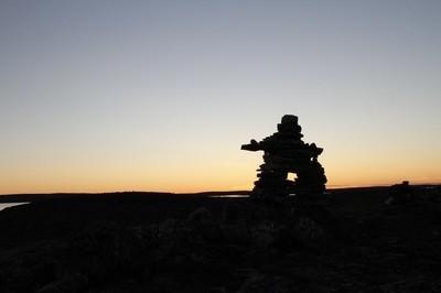 Inuksuk at sunset