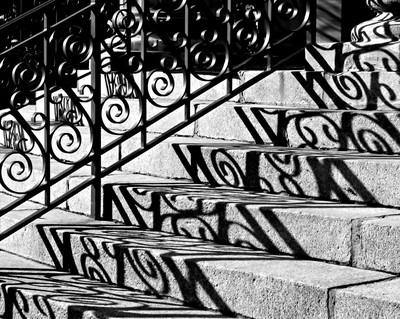Shadow On Rotunda Stairs
