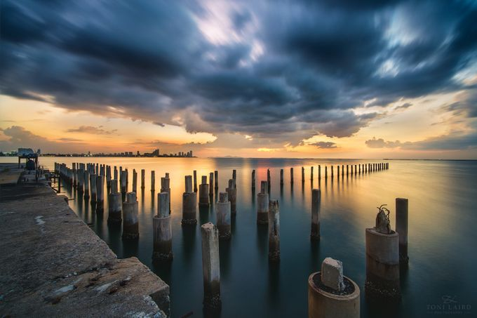 Pattaya Pier Sunset Thailand by tonilaird - Clever Angles Photo Contest
