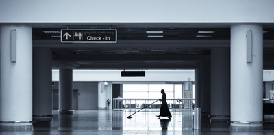 Alone at the airport