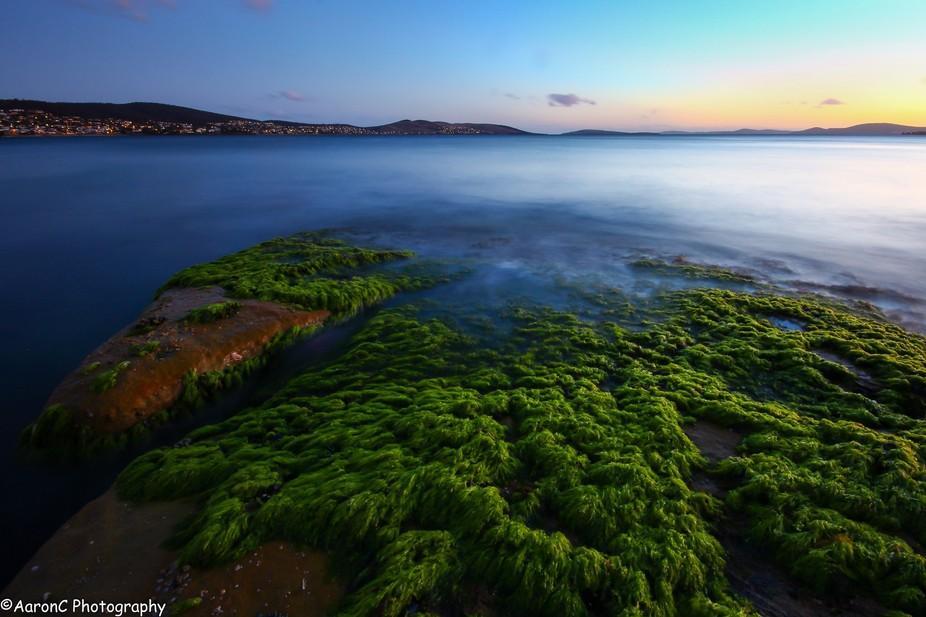 Chasing the last light at Howrah Beach, Tasmania, Australia.
