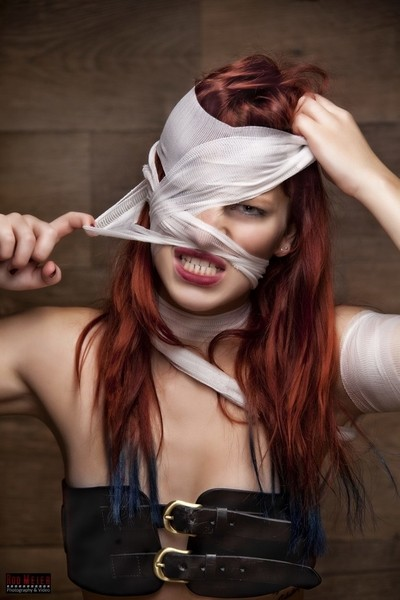Face Bandage - Crazy redhead