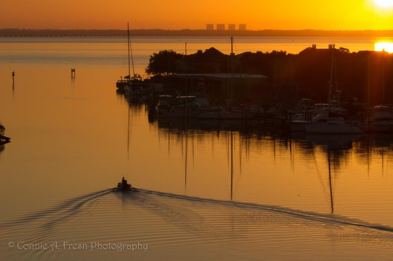 A beautiful morning for fishing