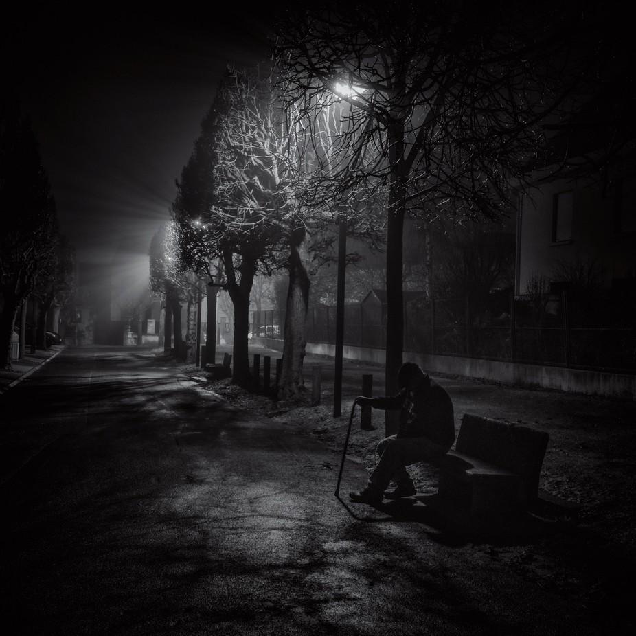 Vieil homme dans la Brume by slydeshaies - Monthly Pro Vol 21 Photo Contest