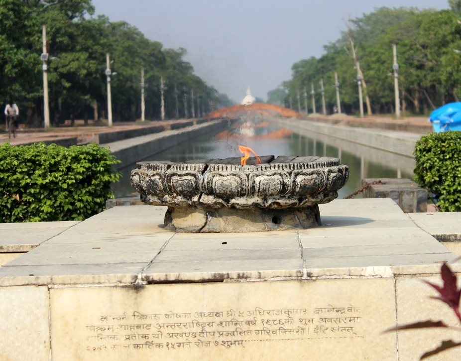 """Birth place of lord buddha """"Eternal Peace Flame"""""""