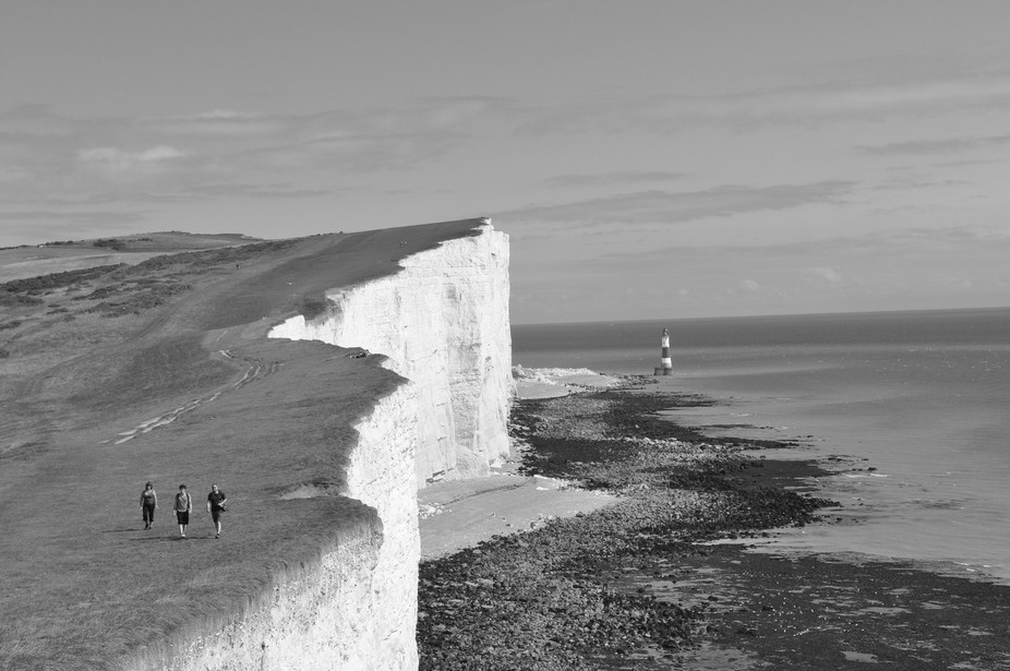 The Seven Sisters, as the cliffs are known, are always dramatic, and often very windy.