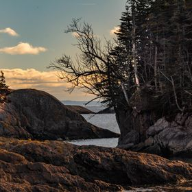 Late afternoon light accentuates this ragged section of coastline in Atlantic Canada