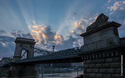 DSCF3750Budapest's Chain Bridge at Sunrise