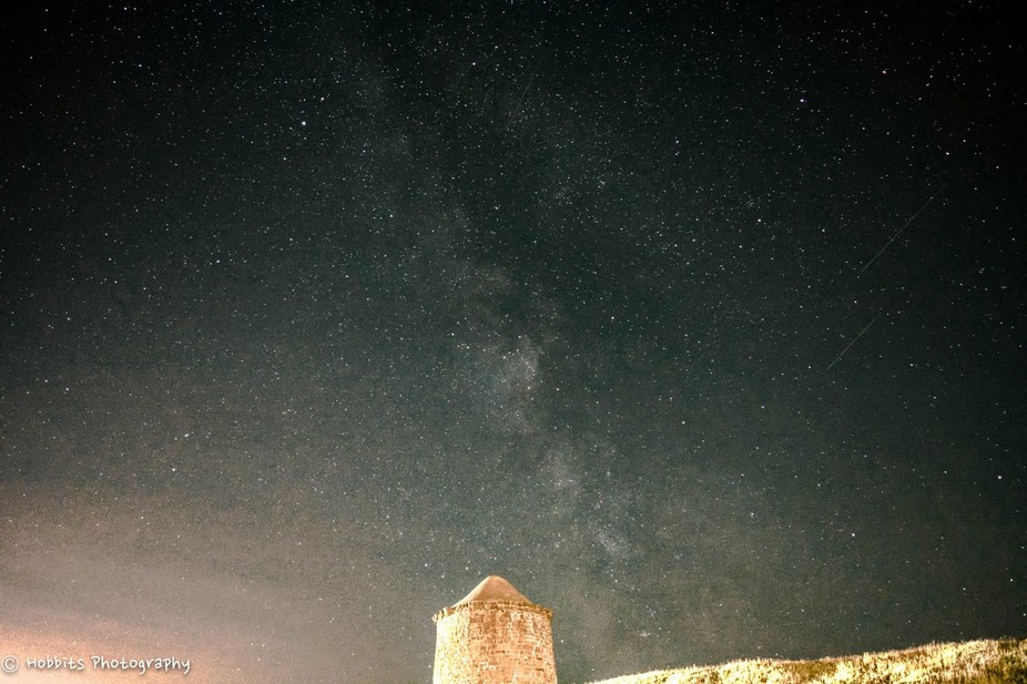 Burton Dassett Hills Country Park , during the Persides Meteor Shower