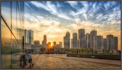Chongqing Theatre Sunset
