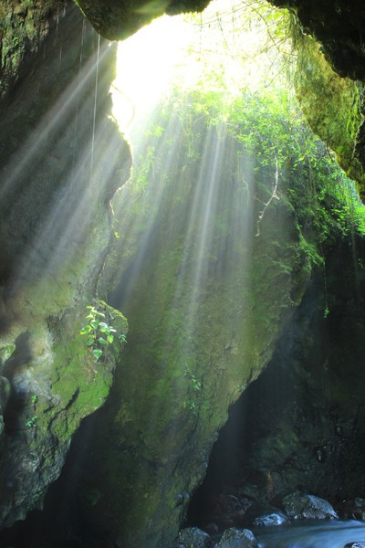 Sunlight Streaming into a Cave
