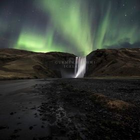 Skogafoss Torch and lights