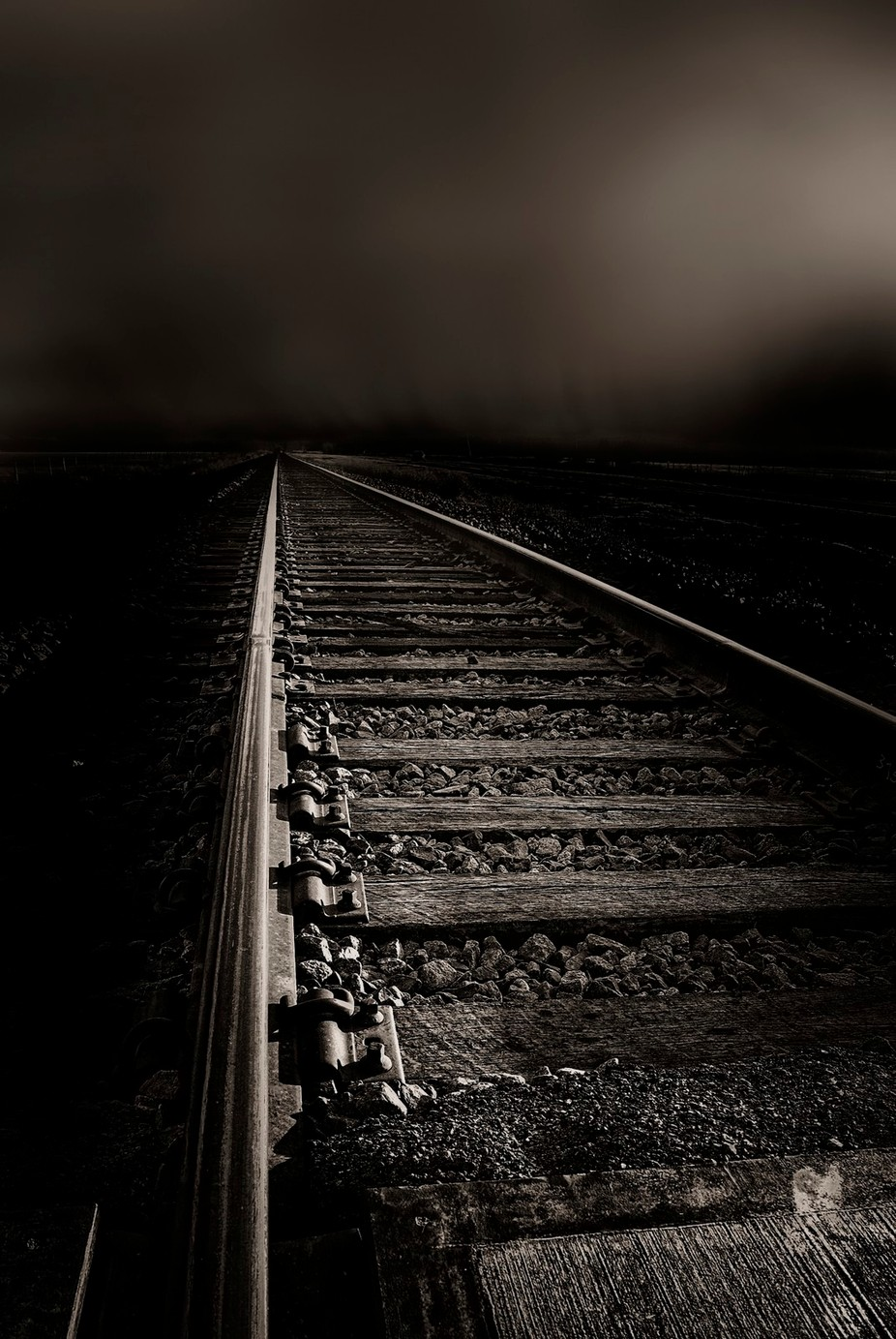 bw fog rain 4_copy by timhayes_3281 - Empty Railways Photo Contest