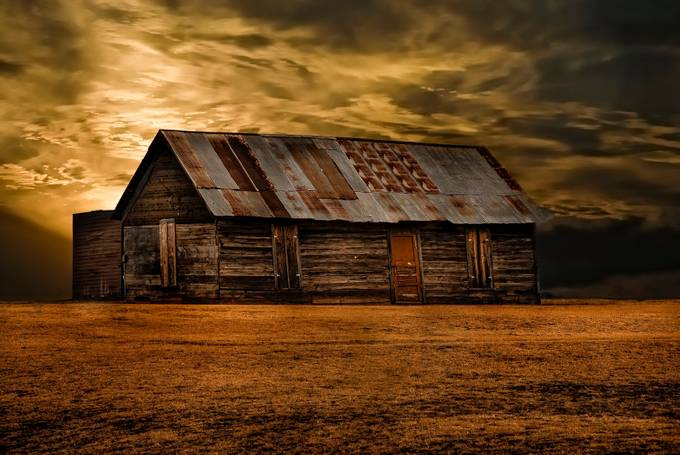 barn at dusk by timhayes_3281 - Isolated Cabins Photo Contest