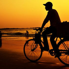 Story of childhood.is seen often when u see a candyman on cycle at beach. this makes one to feel the good old days and fresh up the memories.