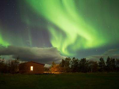 Aurora Borealis at Reykjahlid, Iceland