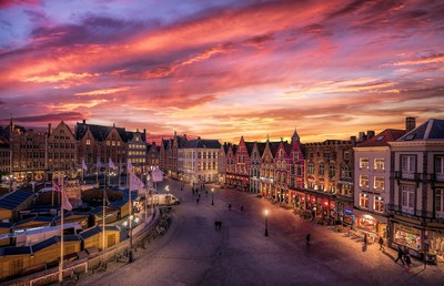Markt at sunset