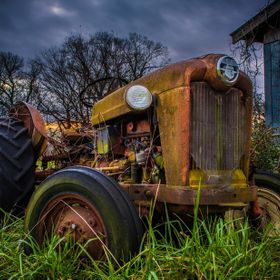 This is the old farm tractor I used when I was a kid on the farm. I took this in the morning before sunrise while back visiting for Thanksgiving.