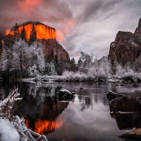 I was fortunate enough to shoot this shot at sunset in Yosemite Valley. The descending storm clouds had strangled off all light, prompting most p...