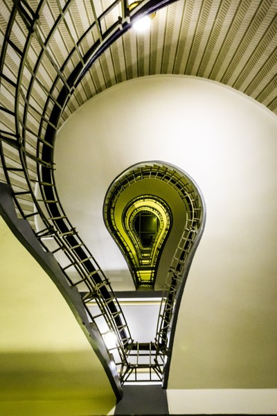 Grand Orient Cafe - Light Bulb Staircase