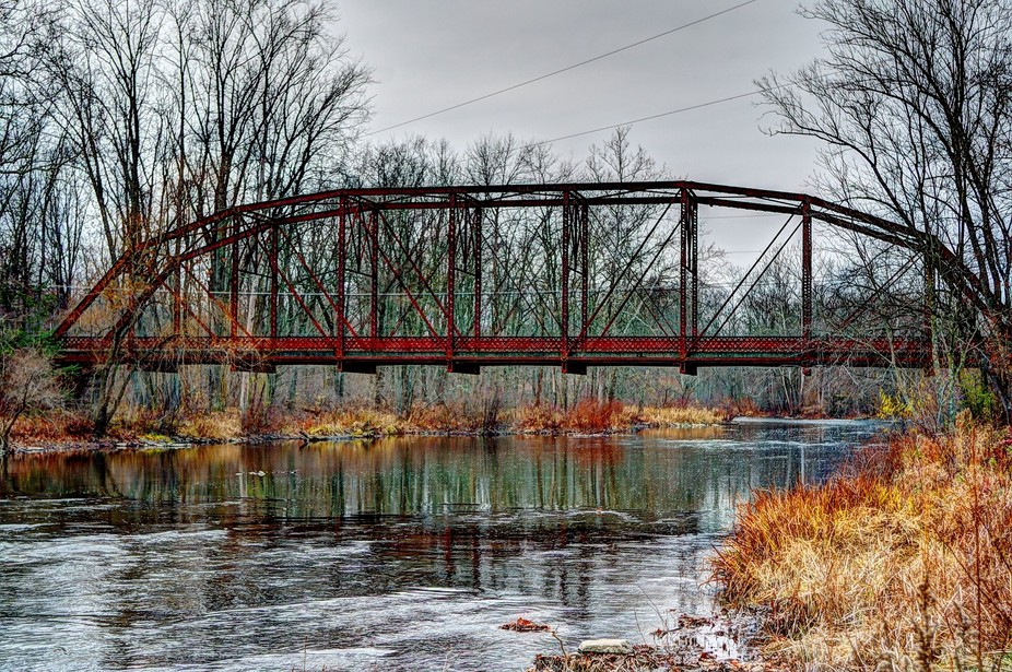 Iron Bridge Across Penns Creek