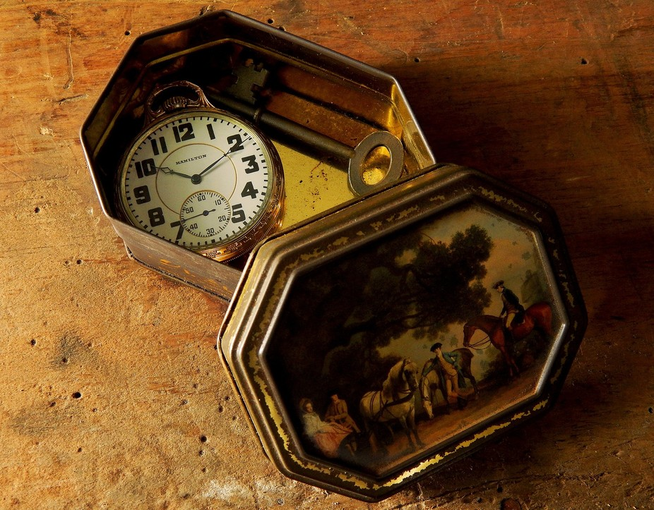 An old Hamilton 992 pocket watch.