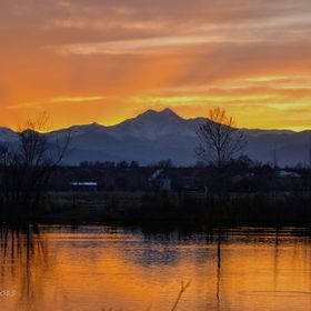 This sunset was taken from St. Vrain State Park in Colorado.